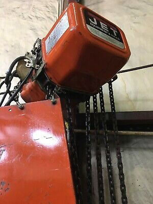 Jet Electric Chain Hoist 5 Ton 20ft. Lift 230460v 5ss-3-20