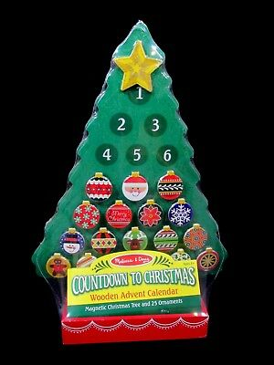 Melissa and Doug Countdown to Christmas Wooden Advent Calendar New and Sealed