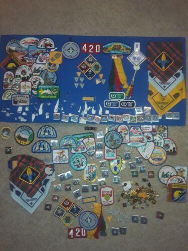 Huge Lot Vintage BSA Cub Boy Scouts Patches Pins Merit Badges Loops Rare Lot 200