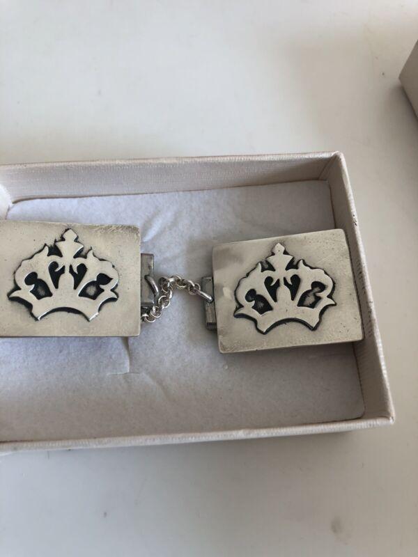 Nadav Art 925 Sterling Silver Crown Tallit Clips-Keep your Prayer Shawl Straight