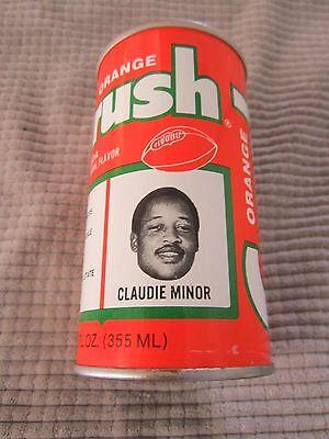 ORANGE CRUSH CAN Denver Broncos NFL FOOTBALL TEAM ~ CLAUDIE MINOR / TACKLE Denver Broncos Nfl Tackle