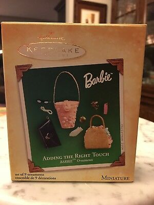 Hallmark Adding The Right Touch Barbie Christmas Ornaments 2004