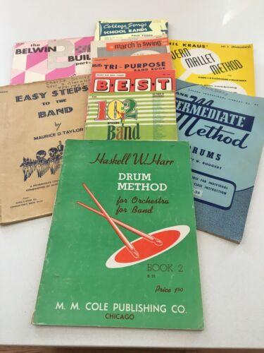 Drum and Bell Books, 10 books, Beginner/Intermediate,