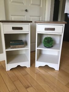 Solid maple farmhouse side/end tables