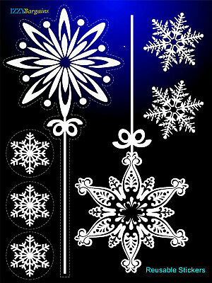 ANGEL STARS SNOWFLAKES CHRISTMAS STICKER DECAL HOME WINDOW DECORATION REUSABLE