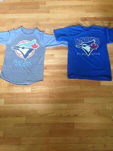 Two Unisex blue jay shirts, 9-14 years old