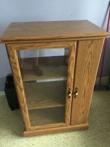 Oak finish cabinet