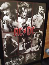 AC/DC Framed Wall Hanging, Commerative Ashtonfield Maitland Area Preview