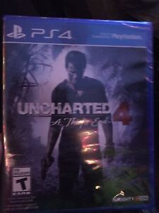 Uncharted 4 brand-new still in package