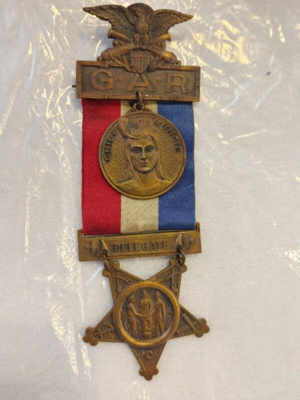 Civil War GAR Muncie-Ind.1923 Medals And Ribbon