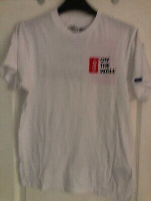 VANS Mens Original White T-shirt With ´OFF THÉ WALL' Logo Size Small
