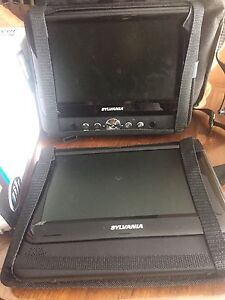 "New!!!!!!9"" dual portable DVD player"