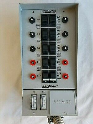 Protran Reliance 31410c 10 Circuit Breaker Generator Transfer Switch Control