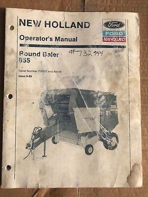 New Holland 855 Round Baler Operators Manual.