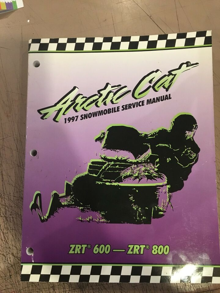 1997 arctic cat zrt 600 800 service repair shop manual factory oem.