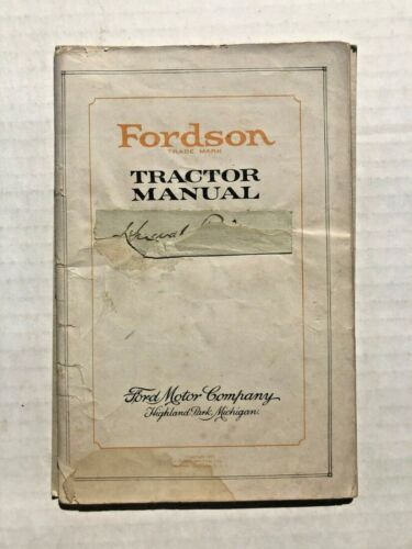 1920 The Fordson Ford Motor Company Tractor Manual