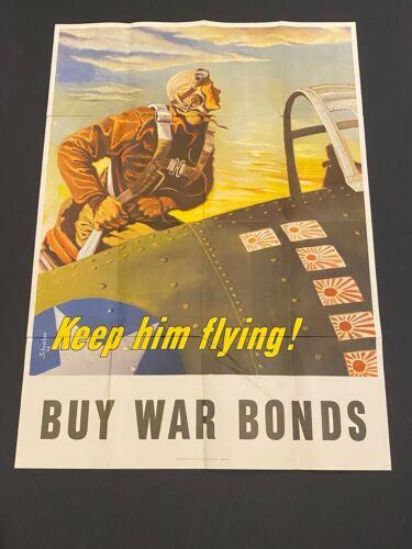 KEEP HIM FLYING - WW2 Poster - ORIGINAL