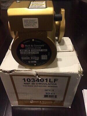 Bell Gossett 103401lf Circulator Pump Nbf-36 Bronze Circulating Hot Water 16