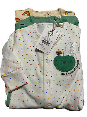 NEXT 100% Organic Cotton Sleepsuits Up To 1 Month BNWT