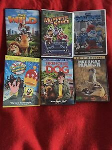 6 Mixed Children's Dvds
