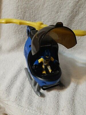 Fisher Price DC Comics Imaginext Rotating Blade Helicopter and Batman Figure