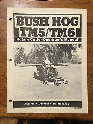 Bush Hog Tm5tm6 Rotary Cutter Operators Manual - 7 Pages