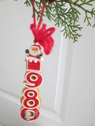 Vintage Hallmark 1980 Santa and Mouse Tree Trimmer Christmas Ornament