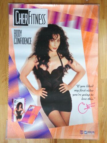 "1992 CHER ""Fitness"" Body Confidence ""If you like my first video ... "" Poster"