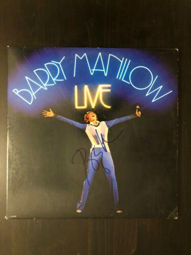 BARRY MANILOW SIGNED AUTOGRAPH - VINYL ALBUM RECORD LP - LIVE, BECKETT