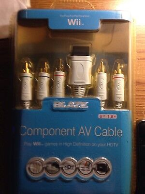 Component AV cable for WII (Blaze) New, Free shipping for sale  Shipping to India