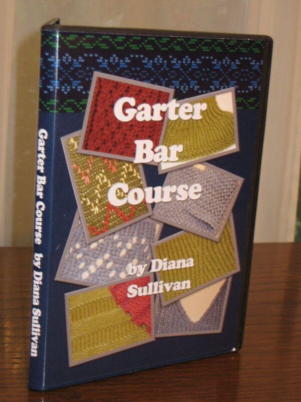 Garter Bar Video Course 2 DVD Set by Diana Sullivan for Machine Knitters