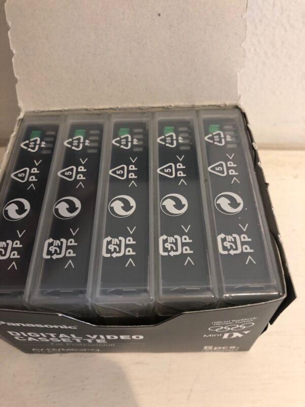 NEW BOX OF 5 SEALED Panasonic AY-DVM63PQ US Mini DV Cassette Tapes