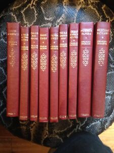 The old Curiosity shop leather books