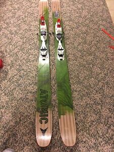 Atlas skis with touring bindings