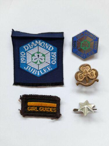 Vintage Girl Guide Badges - Diamond Jubilee