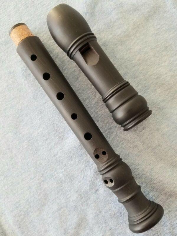 Vintage FEHR Grenadilla wood SOPRANINO Recorder, Model lV Rare Collectors item*
