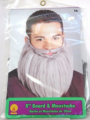 8 Inch Grey Beard Hair Disguise Stage Character Costume Halloween Rubies - Bearded Characters Halloween