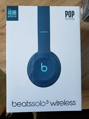 Beats by Dr. Dre Beats Solo3 Headband Wireless Headphones - Pop Blue. NEW