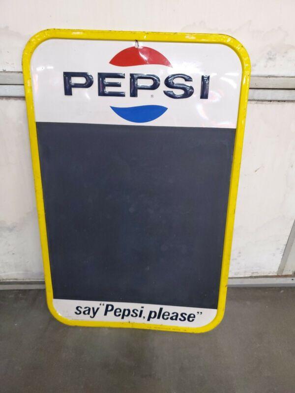 Pepsi Chalkboard Sign Food Beverage Vintage Collectable