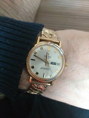 Vintage Gent's Services G.P.Watch Swiss H.W.MECH Day-Date-17Jewels-W.R-Antimag-