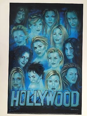 HOLLYWOOD:THE GIRLS,DESIGNED BY H. BEYER FOR ASIA TSUNAMI VICTIMS 2005 POSTER for sale  Shipping to United States