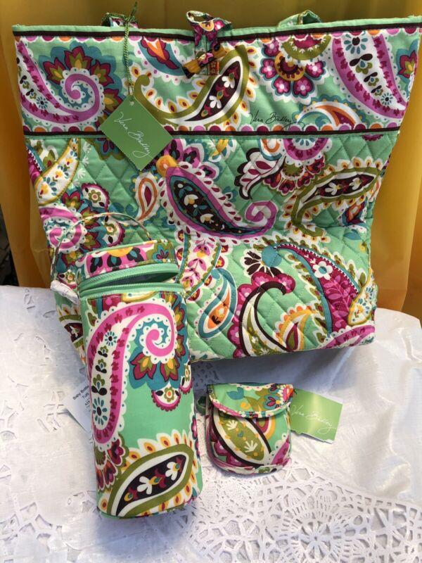 Vera Bradley Tutti Frutti Cotton Quilt Tote Bag Baby Bottle Caddy Pacifier Pod