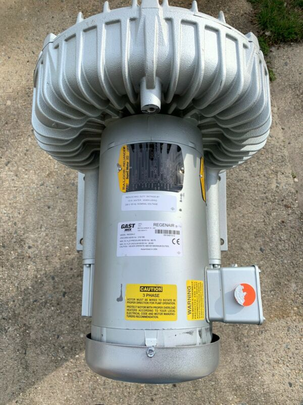Gast Baldor R6335A-2 215 CFM 3.5Hp 208-230/460V 50/60Hz 3PH Regenerative Blower