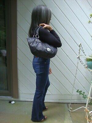 B. Makowsky Black Leather Pebbled Shoulder Bag