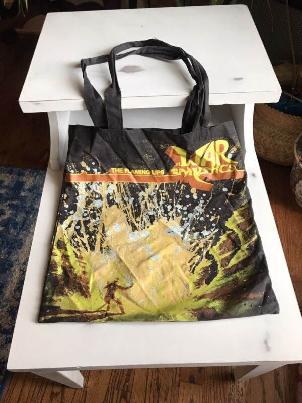 The Flaming Lips - At War with The Mystics Record Tote Bag 2006 RARE Record Art