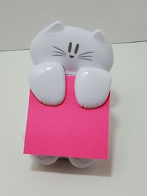 Post-it Pop-up Dispenser Sticky Note 3x3 In White Cat Desk Figure Office Teacher