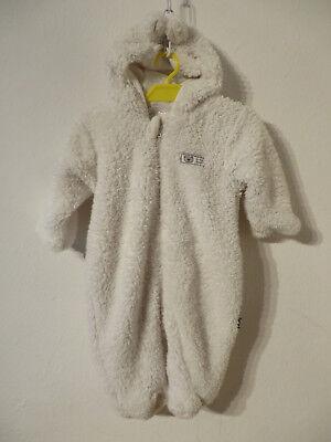 Okay ° süsser Schneeanzug Gr. 68 weiß Kapuze gefüttert Baby Kleidung EisbärAnzug