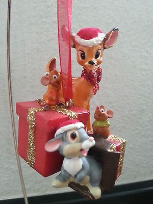 Disney Weihnachten Schmuck/Ornament Bambi,Klopfer u.Jaq und Gus aus Cinderella