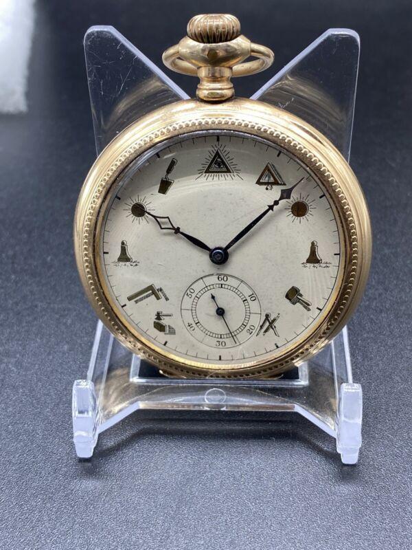 Vintage Masonic Skeleton Pocket Watch Exhibition Manual No dudley ,RARE!