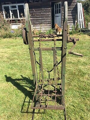 VINTAGE OLD SACK BARROW TROLLEY STATION CAST IRON ANTIQUE